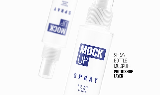Spray bottle mockup realistic 3d rendering