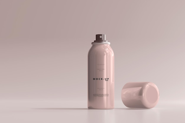 Spray bottle mockup