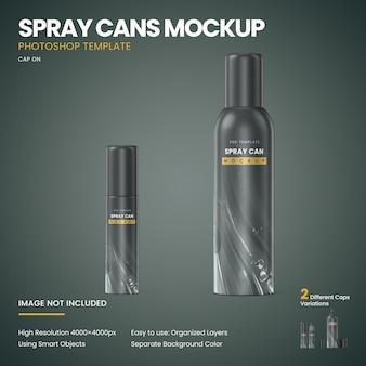 Spray cans mockup