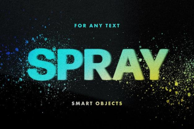 Спрей трафареты текстовый эффект