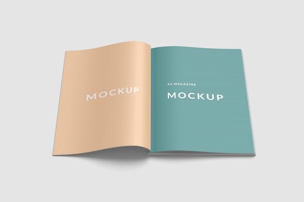 Spread a4 magazine макет вид спереди