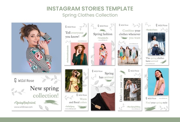 春服コレクションinstagramストーリー Premium Psd