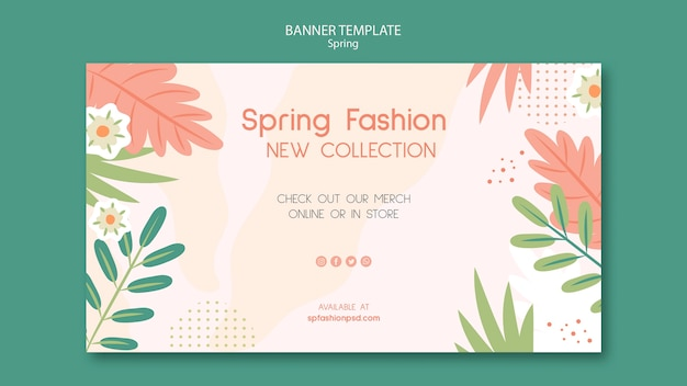 Spring collection banner template