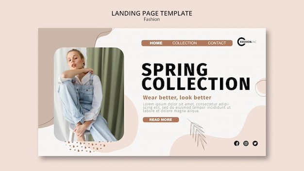 春コレクションランディングページテンプレート