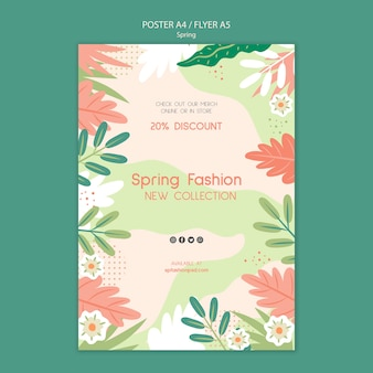 Spring collection poster template