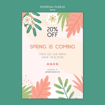 Spring collection sale poster