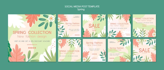 Spring collection social media post