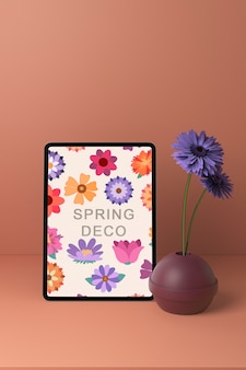 Spring decooration concept mock-up