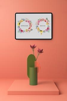 Spring decooration concept mock-up