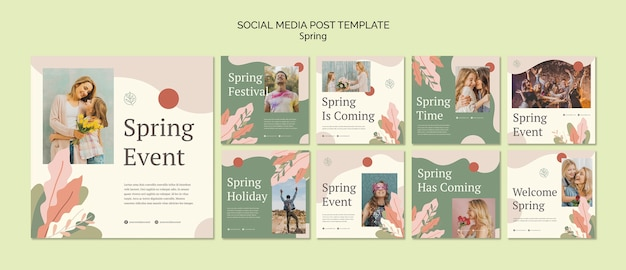 Spring event social media post template