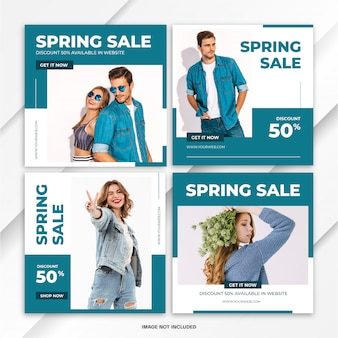 Шаблон поста spring fashion bundle