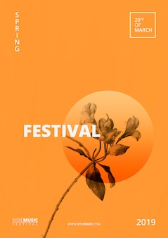 봄 축제 포스터 템플릿
