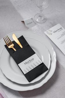 Spring menu with cutlery