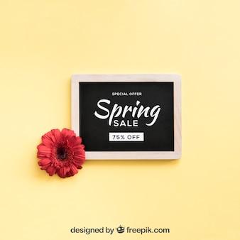 スレートで春を模擬する
