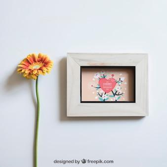 프레임과 꽃 봄 이랑