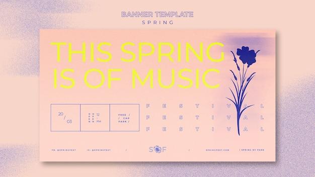 Banner festival di musica di primavera
