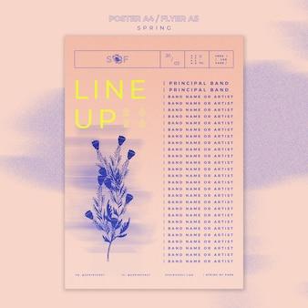 春の音楽祭のポスターテーマ