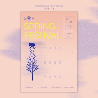 Spring music festival poster