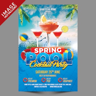 Spring pool cocktail party template