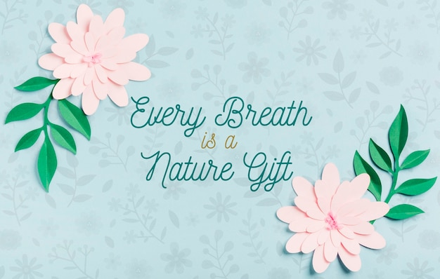Spring quotation background concept