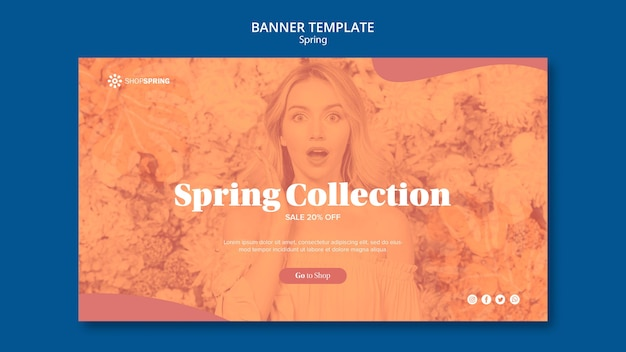 Spring sale collection banner template
