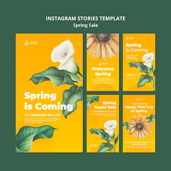 春のセールインスタグラムストーリー