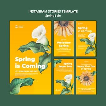 Spring sale instagram stories