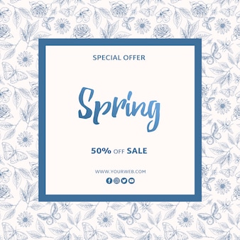 Spring special offer frame template