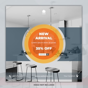 Square banner furniture social media templates