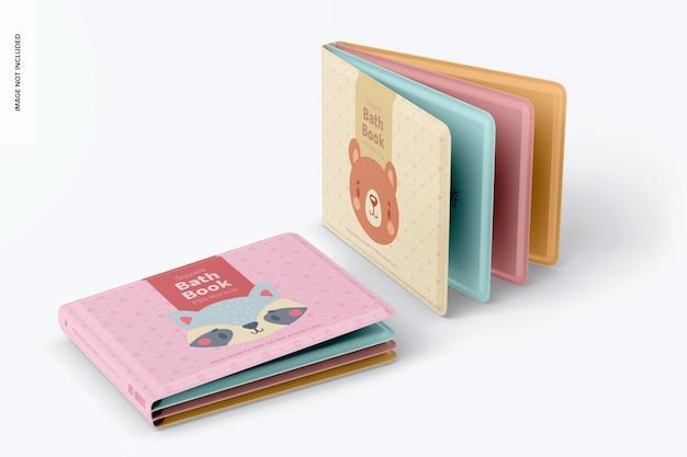 Квадратная банная книги мокап