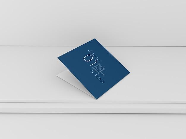 Квадратный складной макет брошюры