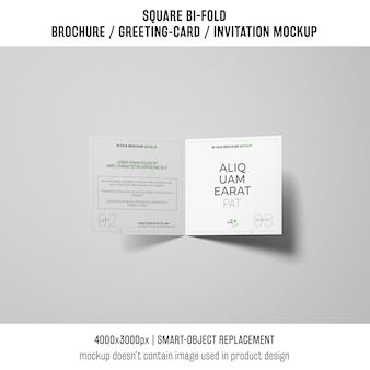 Square bi-fold brochure or greeting card mockup