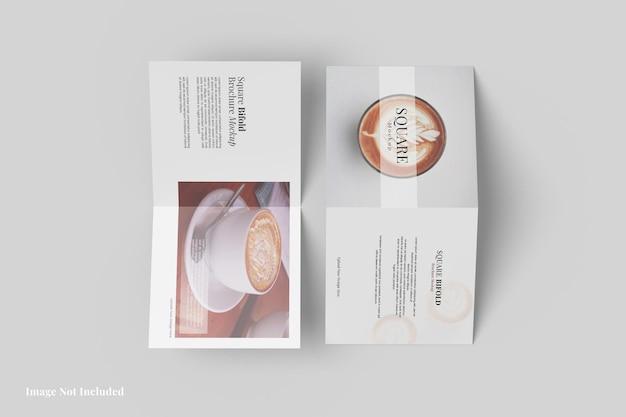 Квадратный двойной дизайн макета брошюры