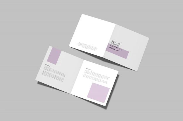 Квадратный двойной макет брошюры