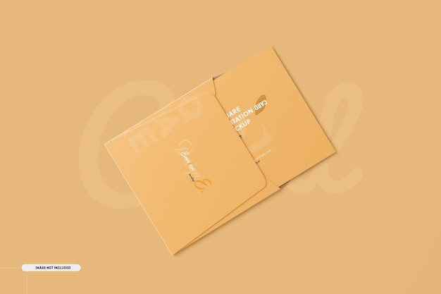 Piazza bifold invitation card mockup
