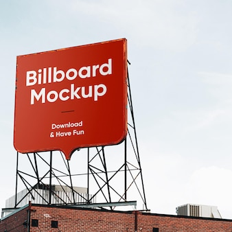 Square billboard mockup