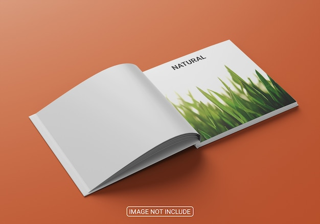 Square book cover mockup design for business