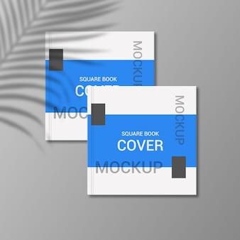 정사각형 책 표지 모형 디자인