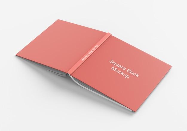 Square book or magazine cover mockup
