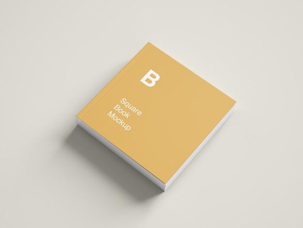 Square book or magazine mockup