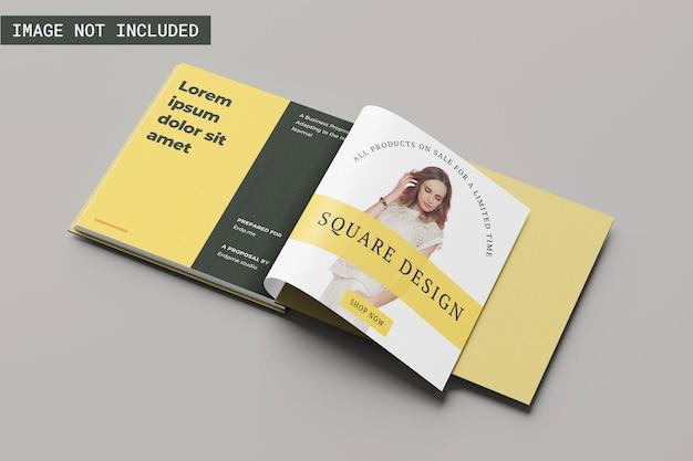 Квадратный макет книги