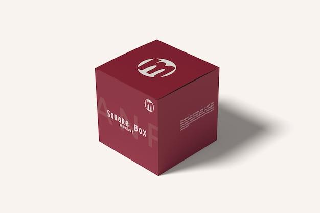 Square box mockup design isolated