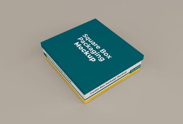 Square box mockup design