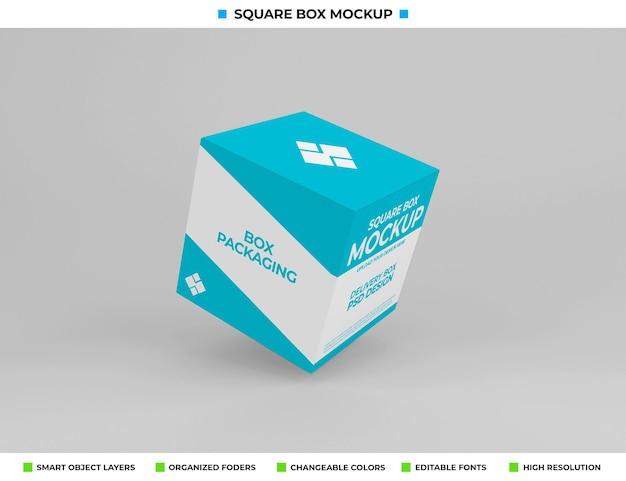 製品包装用の四角い箱のモックアップ