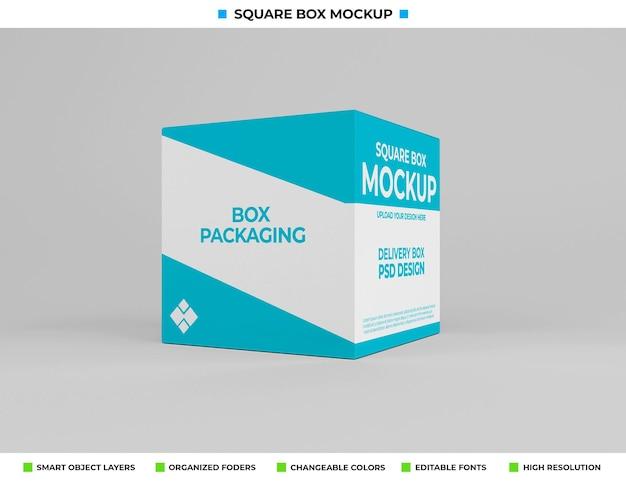 Макет квадратной коробки для упаковки продукта