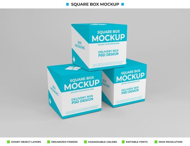 제품 포장용 사각형 상자 모형