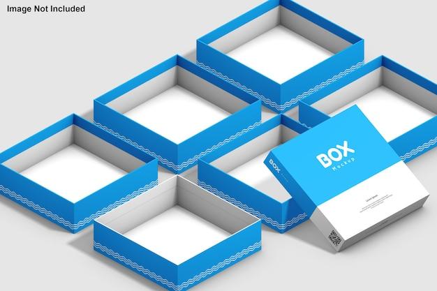 Мокап квадратной коробки
