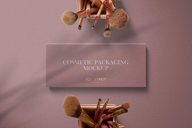 Квадратная коробка для упаковки косметики, макет