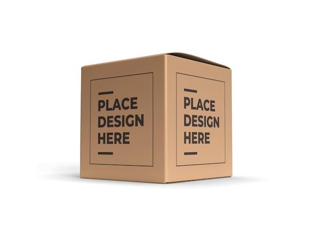 Квадратная коробка упаковки дизайн макета изолированные