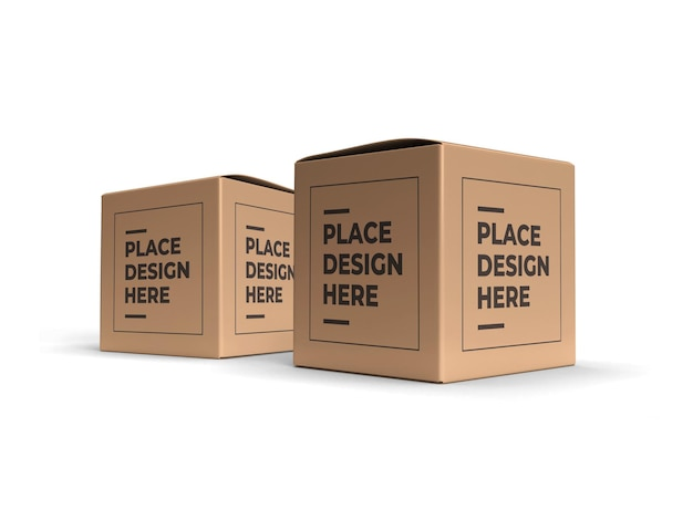 정사각형 상자 포장 모형